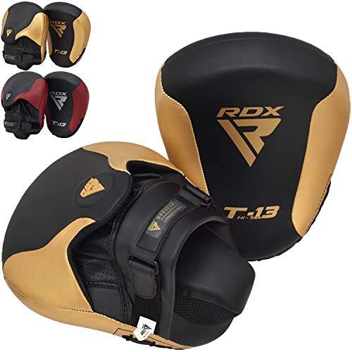 RDX Manoplas de Boxeo Paos Muay Thai Almohadilla Kalix Cuero MMA...
