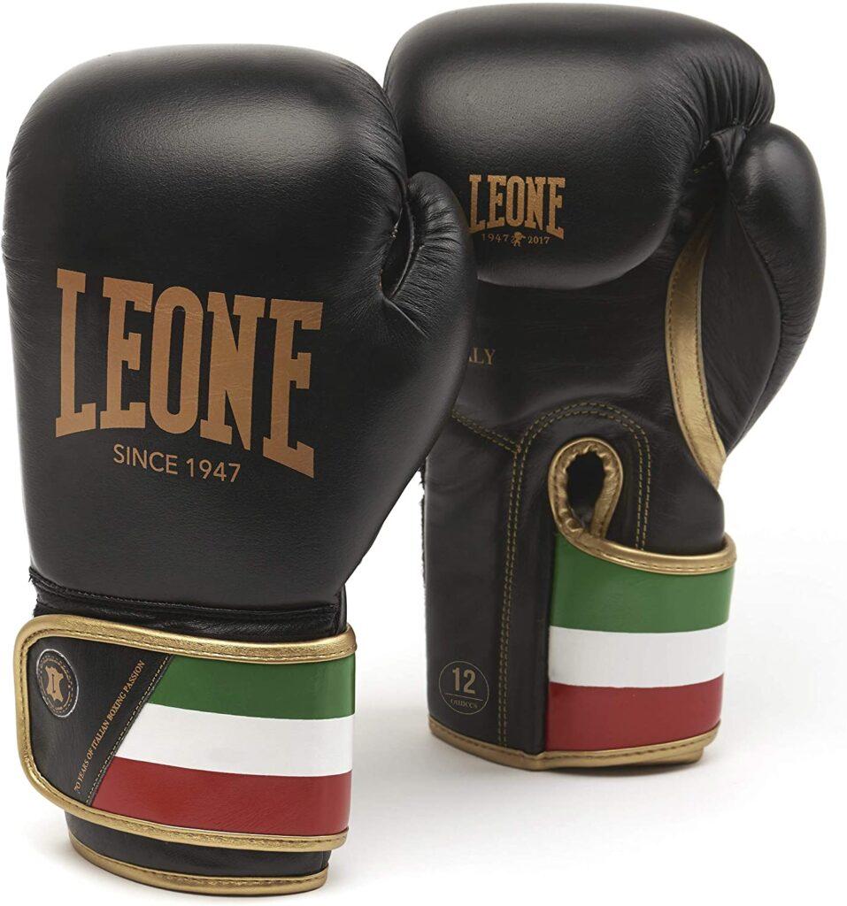 Guantes de Boxeo Unisex negroLEONE 1947 GN039 para Adulto
