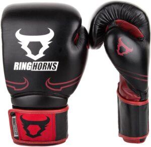 Ringhorns Destroyer Guantes de Boxeo, Unisex Adulto, Negro Rojo