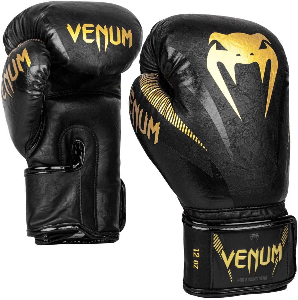 Guantes de Boxeo VENUM Impact Negro Dorado