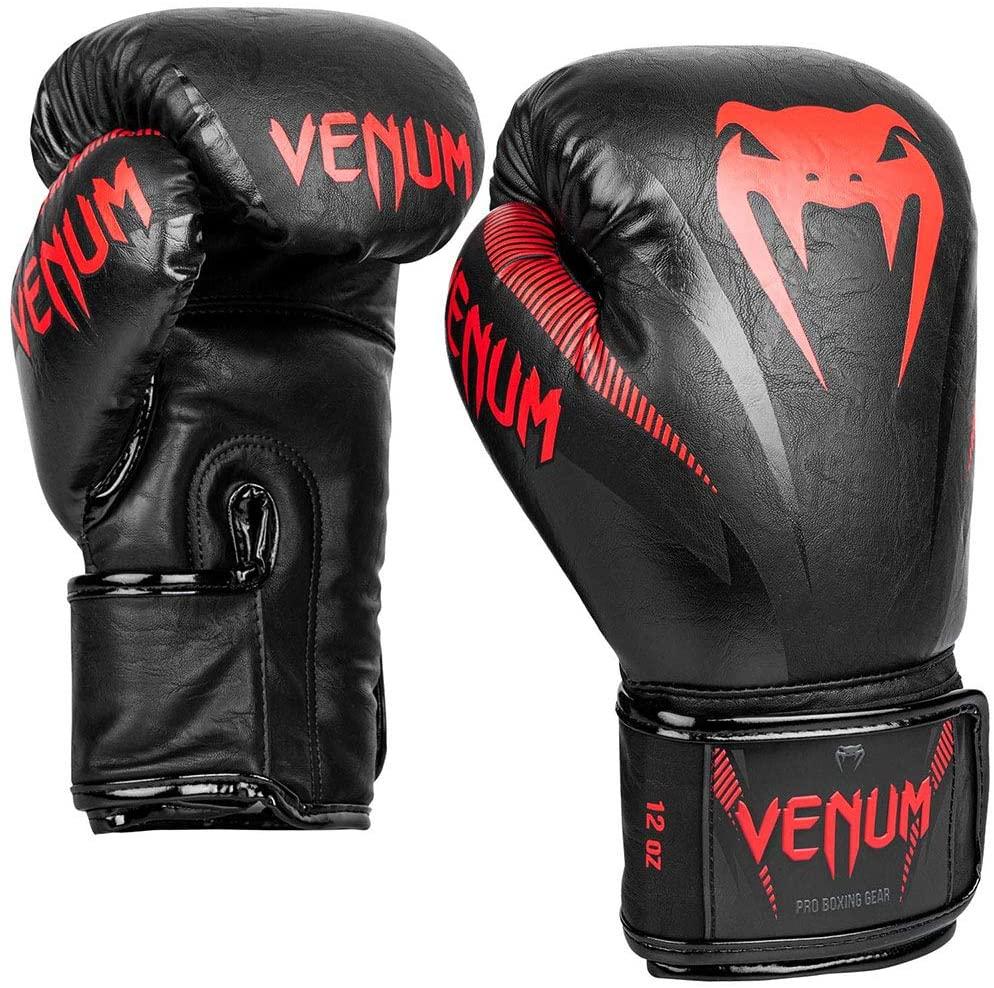 Guantes de Boxeo VENUM Impact Negro Rojo