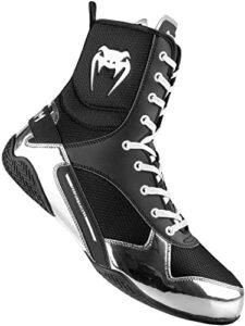Venum Elite, Zapatillas de Boxeo Unisex Adulto plateado