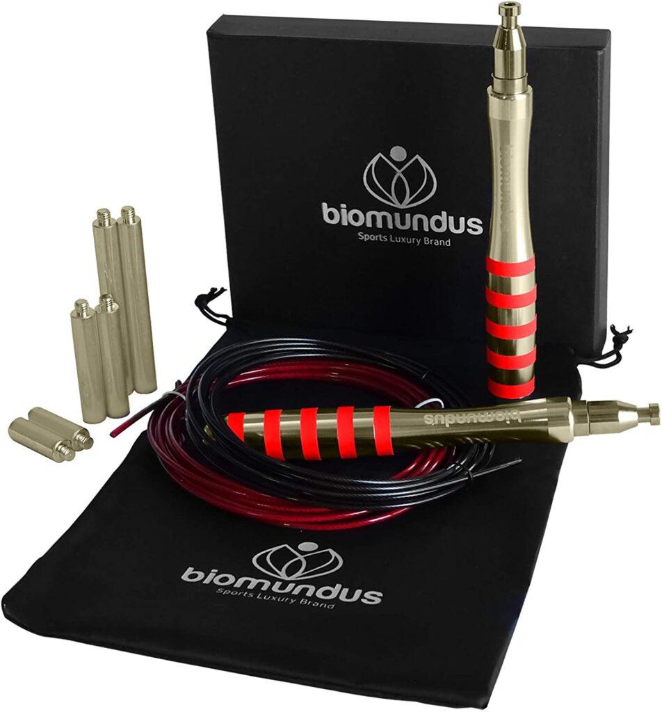 biomundus Cuerda Saltar + 3 Lastres + Cuerda Extra+Bolsa