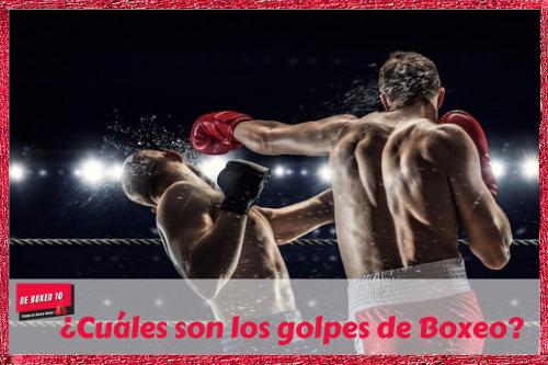 ¿Cuáles son los golpes de Boxeo